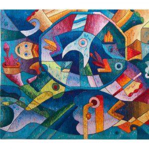 """Abundante Fruit of the SeaSize: 47 x 94"""""""