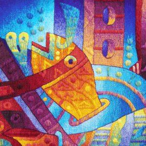 "Alegria en la Fiesta Mayor del AguaSize: 47 x 47"""