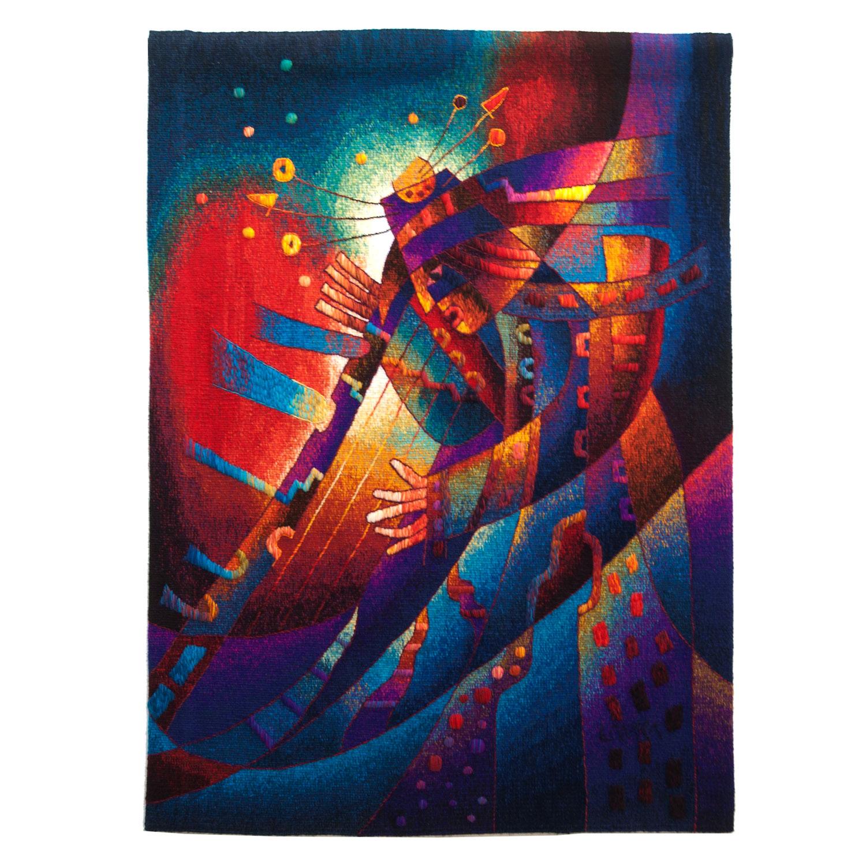 """Harpist in RitualSize: 47 x 35"""""""