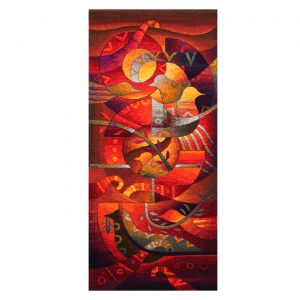 "Birds with LaurelSize: 51 x 23"""