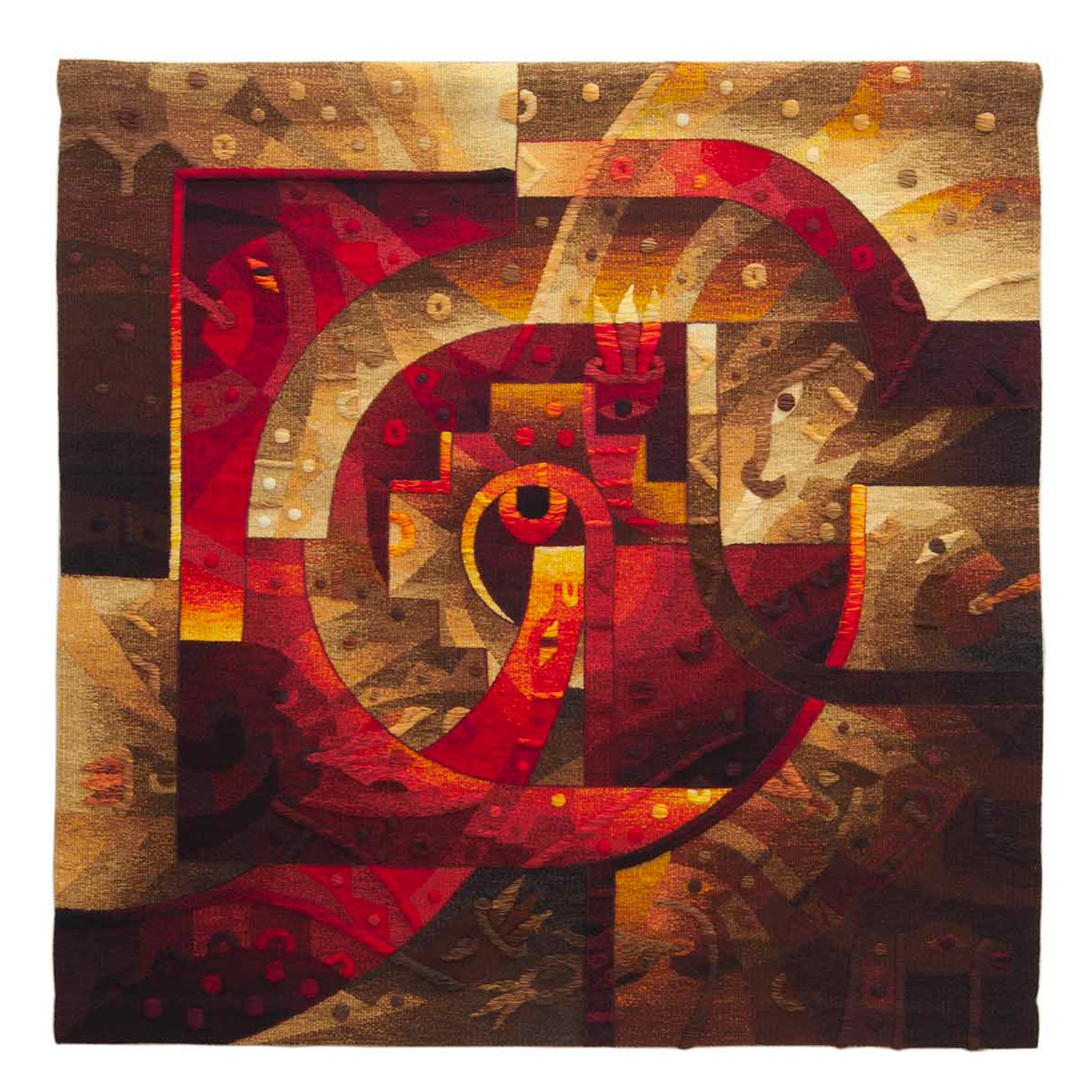 "Spiritual Gaze in the AndesSize: 47 x 47"""
