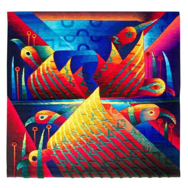 Sacred Birds and MantlesSize: 47 x 47""